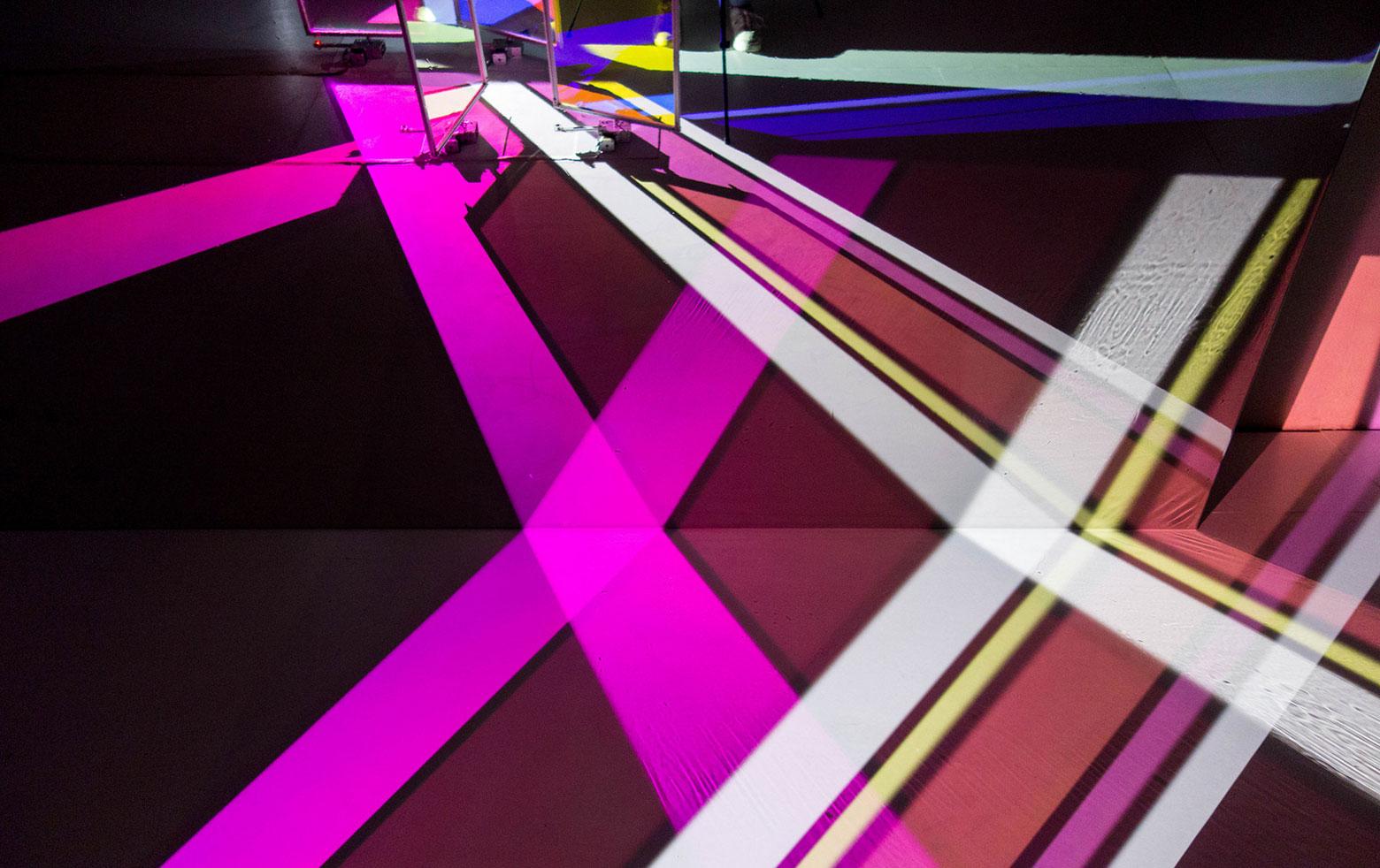 "Yoko Seyama: ""Saiyah"" #2 (2015) with dichroic lighting filters"