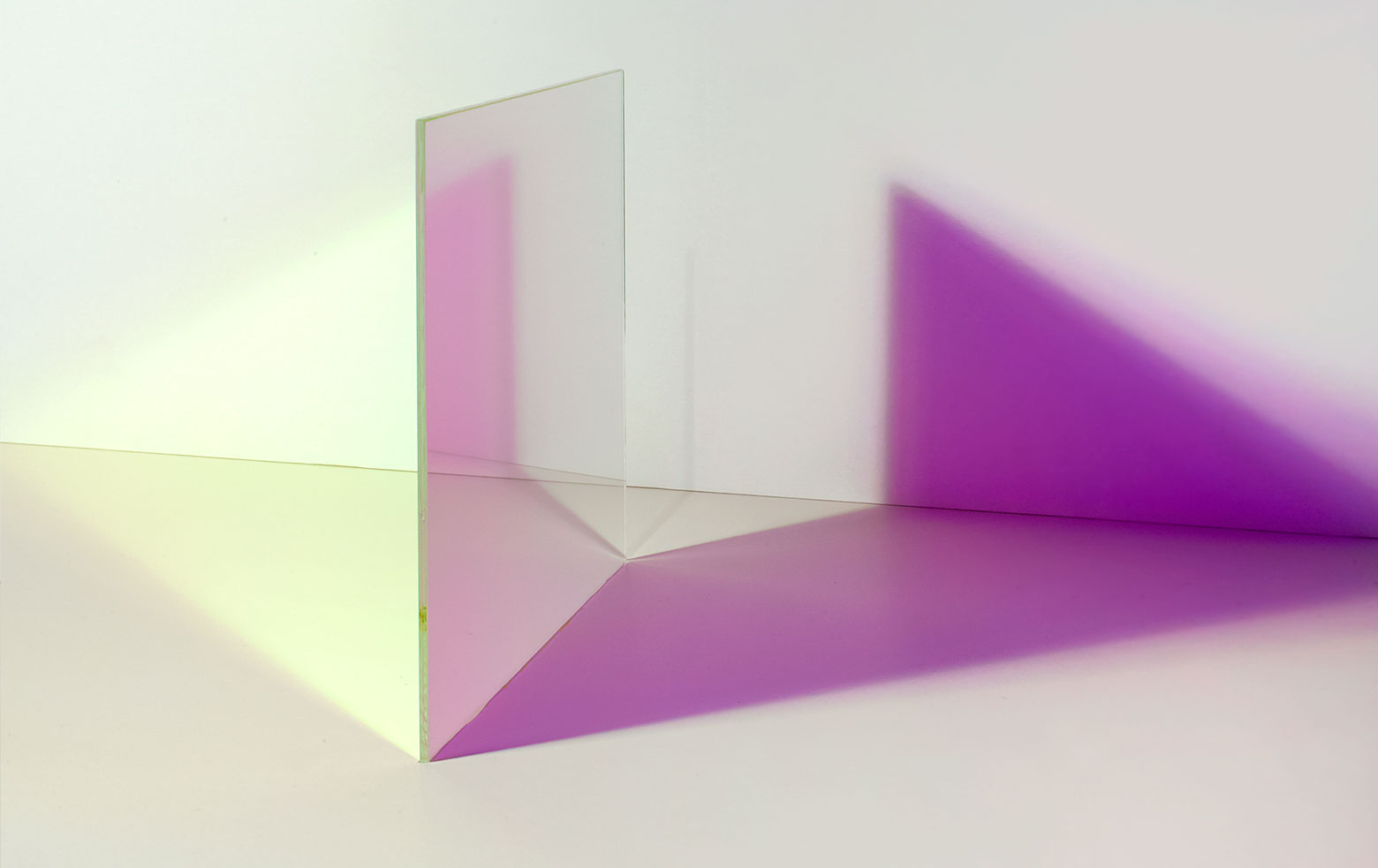 The colour effect changes with each angle.